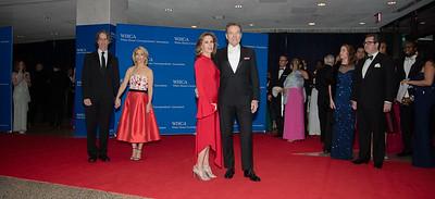 Dana Bash, Bryan Cranston, Jay Roach, White House Correspondents' Dinner