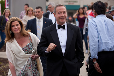 Gov. Martin O'Malley (D-MD) with wife and Maryland First Lady, Katie O'Malley