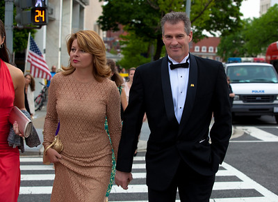 Sen. Scott Brown (R-MA) with wife Gail Huff