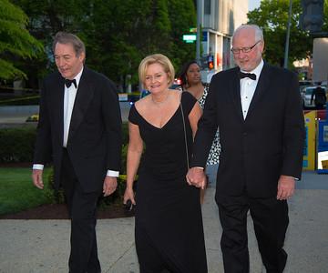 Carlie Rose (PBS), Sen. Clair Mc Caskill (D-MO) and her husband Joseph Shepard