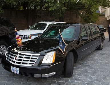 Presidential Limo parking at Hilton