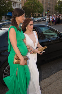 SE Cupp (right) arriving for WHCD