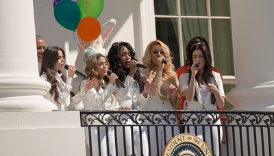 Fifth Harmony sing Happy Birthday to Let's Move at Easter Egg Roll