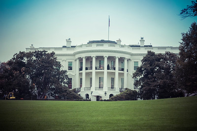 The White House as seen from the South Lawn - October 2012