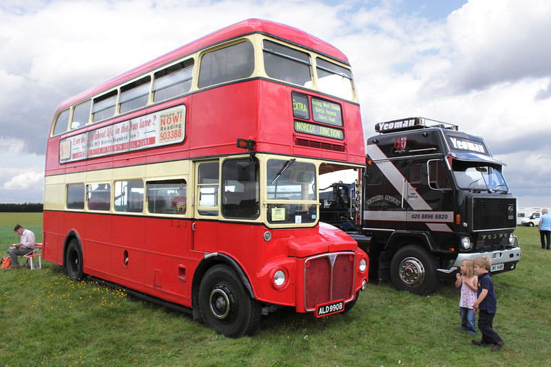 Red Double Decker Routemaster Bus at White Waltham Retro Festival 2011