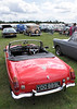 Rear view MGB Roadster at White Waltham Retro Festival Classic Car Rally 2011
