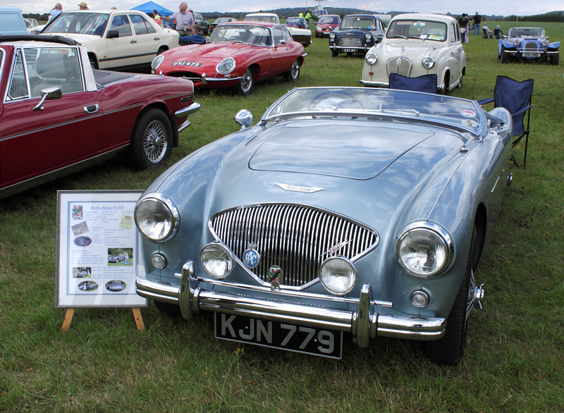 Austin Healey 100 BN1 at White Waltham Retro Festival Classic Car Rally 2011