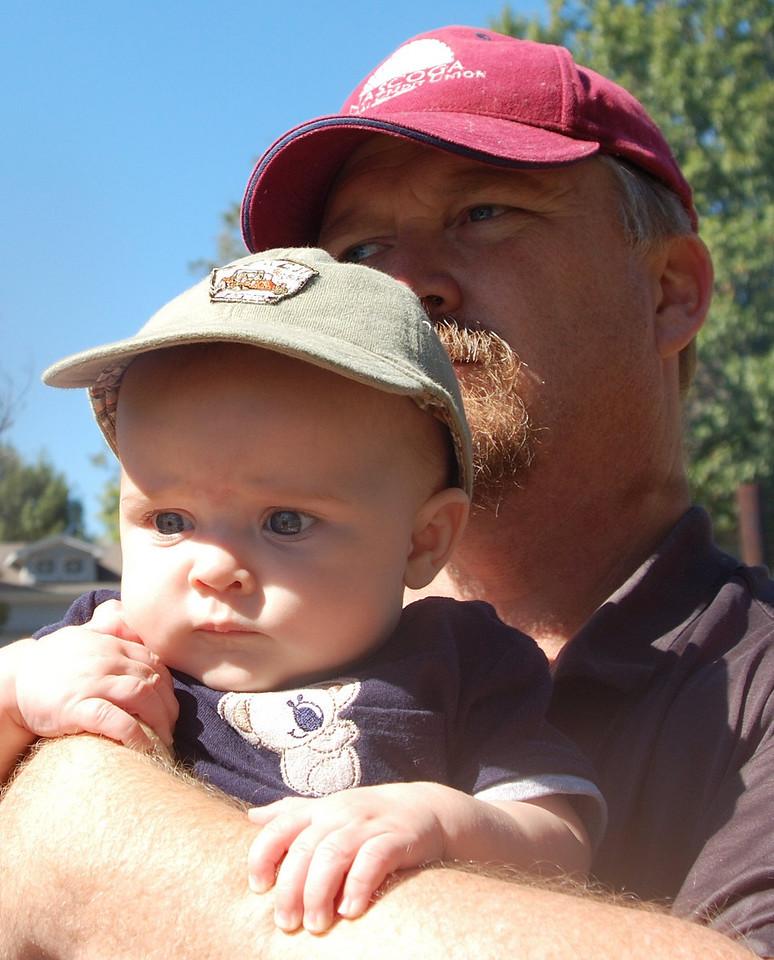 Daddy and baby boy Whitesboro Peanut Festival, 2009