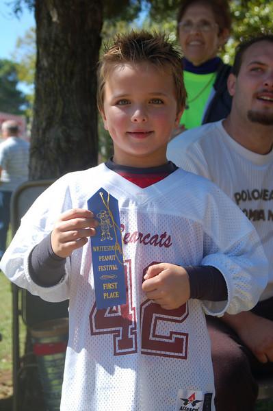 Goober spitting winner. Whitesboro Peanut Festival, 2009