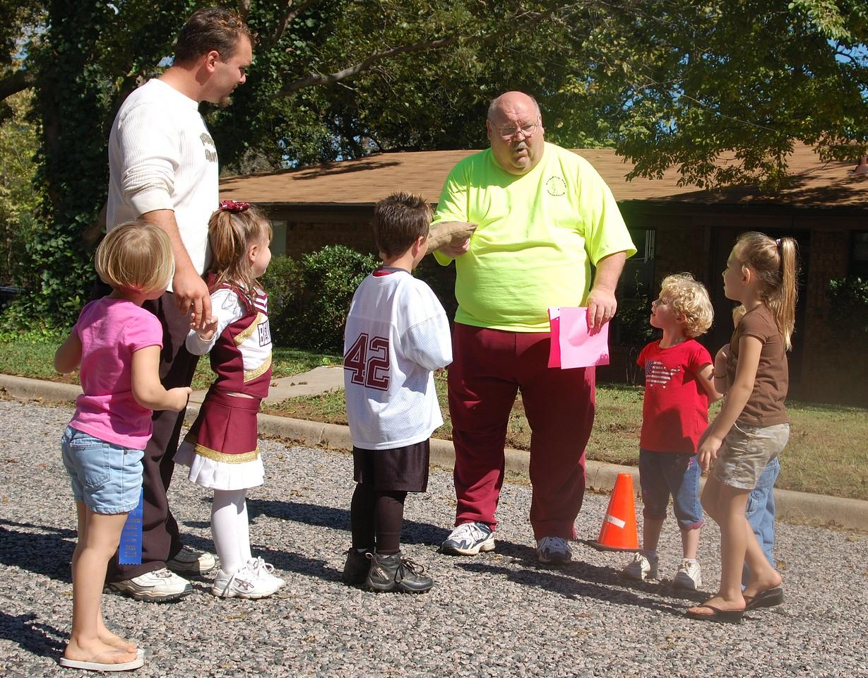 Terry instructs participants Whitesboro Peanut Festival, 2009