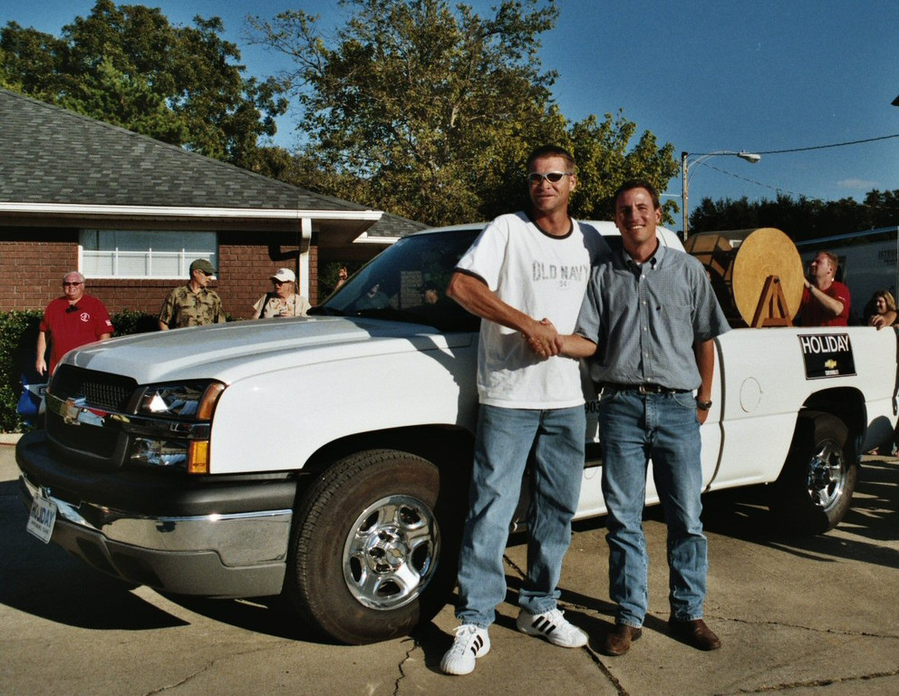 And the Winner of the Big Prize. Whitesboro Peanut Festival, 2004
