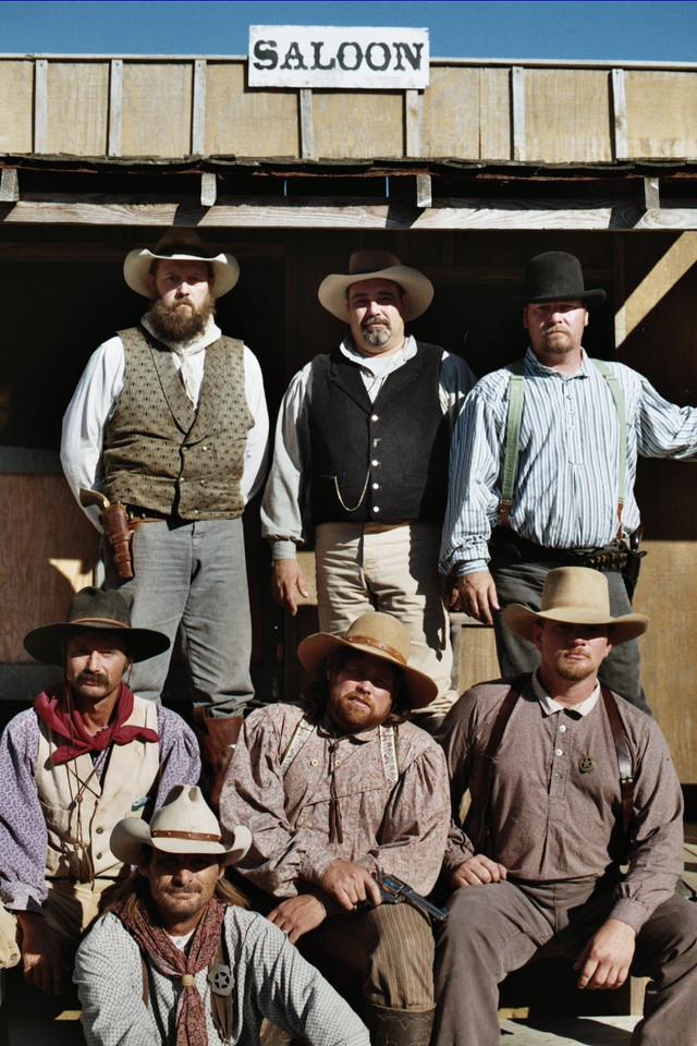 Handsome group of guys. Whitesboro Peanut Festival, 2004