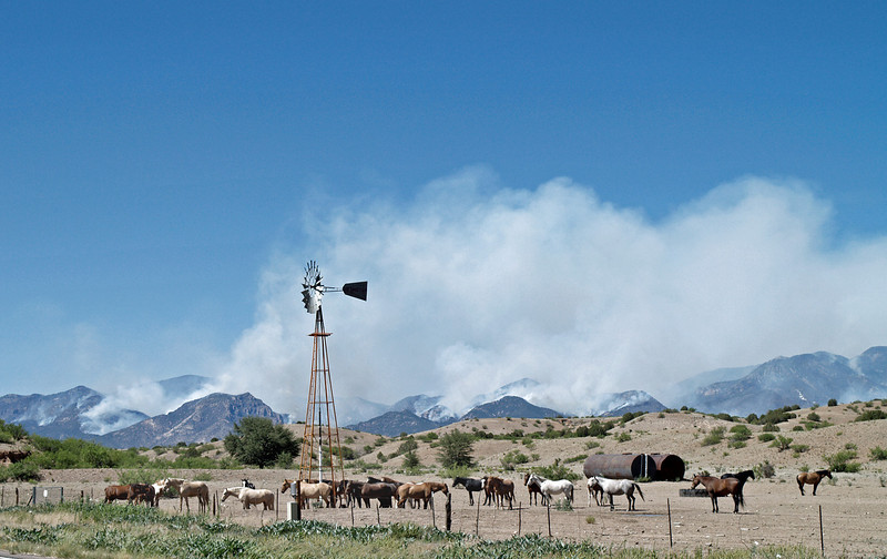Whitewater-Baldy fire as seen from hwy 180 between jct NM78 and Buckhorn, June 8, 2012.<br /> Photo by David Thornburg