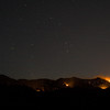 Whitewater-Baldy fire, June 5, 2012, from ~3mi south of Glenwood, NM.<br /> View is centered east. Most of the sky glow is because it is nearly moonrise.<br /> Photo by David Thornburg
