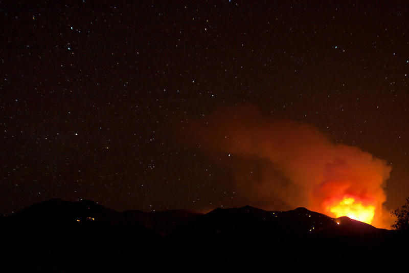 Whitewater-Baldy fire as seen from Pleasanton, NM on the evening of June 6th.<br /> Photo by David Thornburg