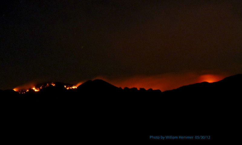 Whitewater-Baldy fire May 30, 2012 by William Hemmer. Location where taken: ~1mi east of Glenwood, NM.