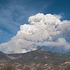 Whitewater-Baldy fire May 22, 2012 by David Thornburg. Location where taken: 1mi south of Glenwood, NM. Smoke plume is rising over Mogollon mountains.