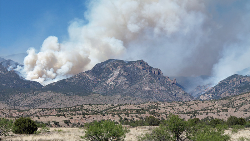 Whitewater-Baldy fire as seen from Leopold Vista, June 8, 2012.<br /> Photo by David Thornburg