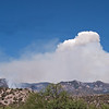 Whitewater-Baldy fire, June 6, 2012, from ~3mi south of Glenwood, NM.<br /> View is centered east. Fire more active to south today.<br /> Photo by David Thornburg