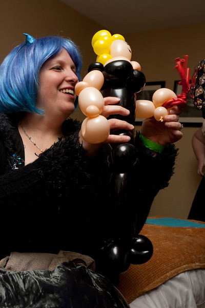 Balloon dominatrix.
