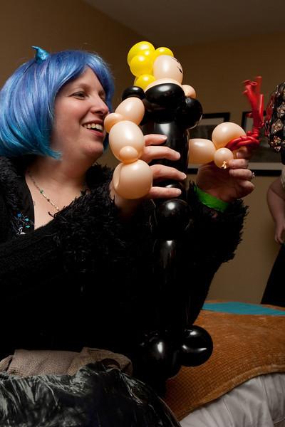 Balloon dominatrix.