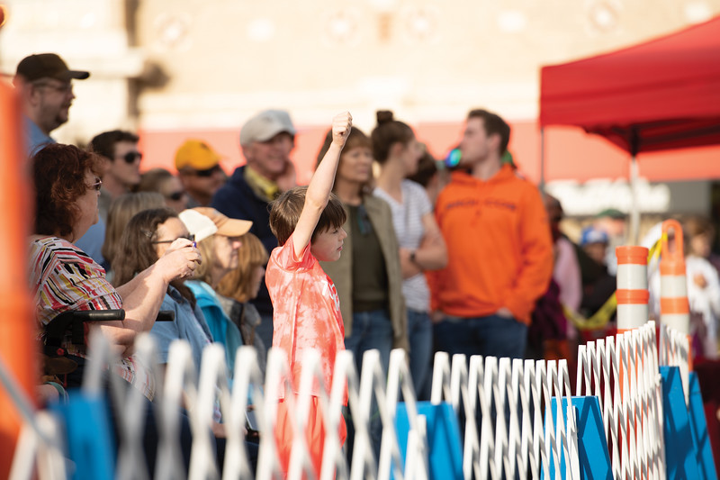 Matthew Gaston | The Sheridan Press<br>Young fans came out to support their favorite pups during the weiner dog races at Blacktooth Brewing Tuesday, June 11, 2019.