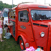 Bubble and Brew in  vintage French Citroen Fire Wagon