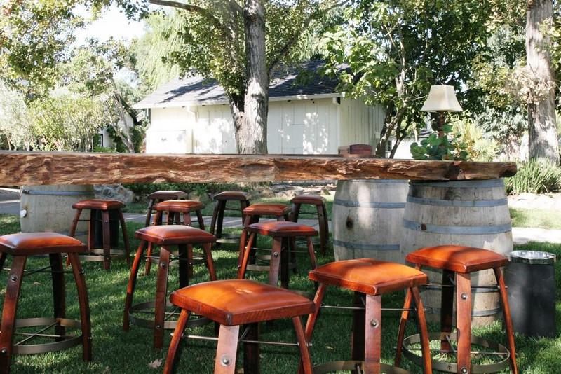wine barrel stools