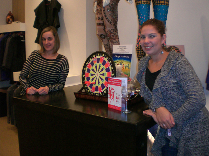 Representatives of the American Heart Association held a trivia game for patrons visiting The S.F. Shirt Company on the Row.
