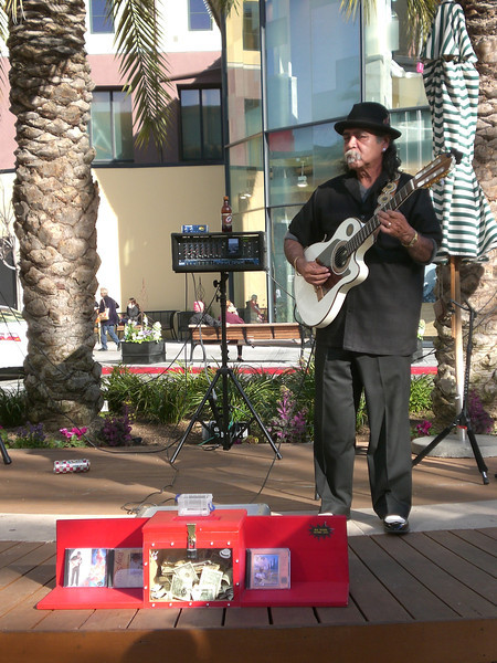 Ray Soto, a Santana Row staple, playing his flamenco music for patrons to enjoy.