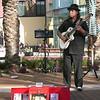 Ray Soto, a Santana Row staple, playing his flamenco music for patrons to enjoy.