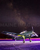 Lightpainting.  TBM-3E Avenger Torpedo Bomber.  Terxas Flying Legends Museum.  Wiscasset, Maine.   9698