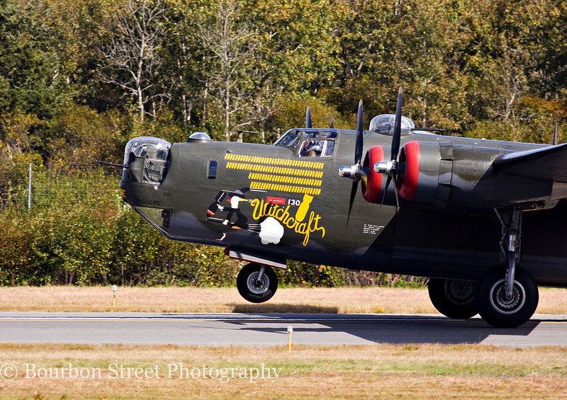 "Consolidated B-24J Liberator ""Witchcraft"" landing."