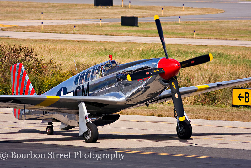 TP-51C Mustang taxiing in for the show.