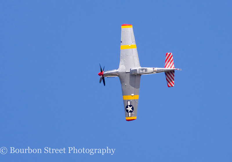 "North American TP-51C Mustang ""Betty Jane"", flyover before landing"