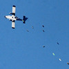 "Wingsuit skydivers leave the plane in a second attempt for a Colorado record.<br /> A group of Colorado wingsuit skydivers set a Colorado record this weekend at 14 people at Vance Brand Airport and  Mile-Hi Skydiving in Longmont.<br /> For more photos and a video, go to www.dailycamera of  <a href=""http://www.timescall.com"">http://www.timescall.com</a>.<br /> Cliff Grassmick  / October 21, 2012"