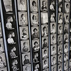 Winslow School reunion in Tyngsboro. Strips of class photos on display in basement of Old Town Hall. (SUN/Julia Malakie)