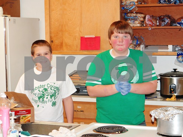 Gowrie Groundbreakers 4-H Club: Ben Peterson and Matthew Ross
