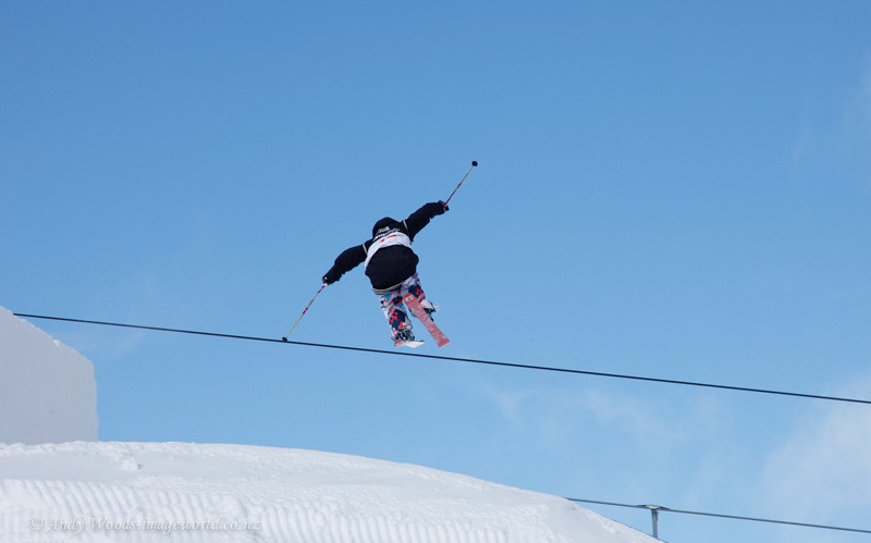 Kim Lamarre CAN... New Zealand Winter Games, Freeski Slope Stlye... Snow Park, Wanaka, New Zealand...18 August 2011