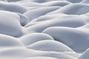 Abstract snow patterns