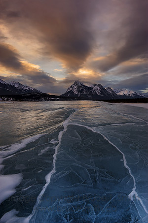 Amazing sunrise ice reflection