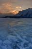Sunrise ice reflection