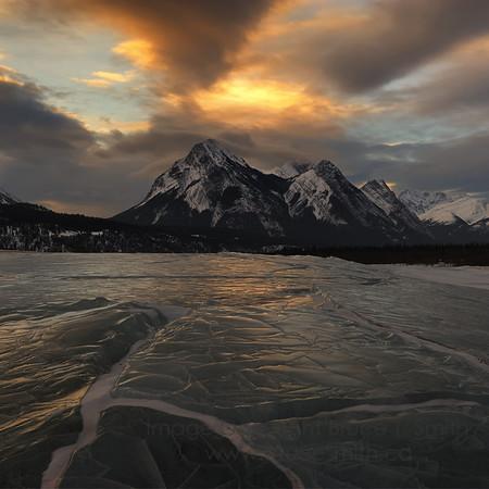 Sunrise ice reflections