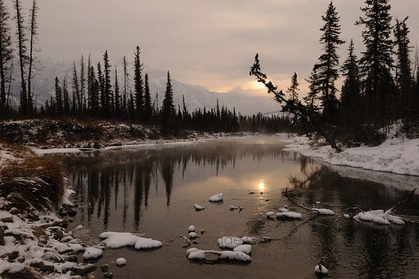 Sunrise near Jasper, Alberta