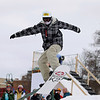 Record-Eagle/Keith King<br /> Caelan Cooper, 13, of Traverse City, participates in a practice session of the Curb Crusher Rail Jam Saturday, February 18, 2012 during the Cherry Capital Winter WowFest.