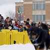 Record-Eagle/Keith King<br /> Spectators look on as the Monster Dog Pull competition takes place Saturday, February 18, 2012 during the Cherry Capital Winter WowFest.