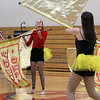 Westford Academy winter guard competes as Tewksbury Memorial High School hosts the New England Scholastic Band Association's competition. (SUN/Julia Malakie)