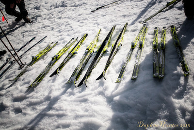 A variety of skis were available for all ages to try their hand at cross-country on the beautifully groomed trails.