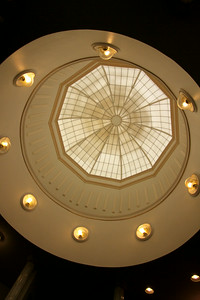 The dome inside the entrance of the White House