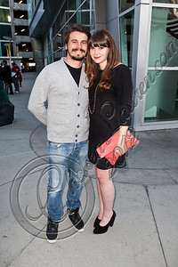 "HOLLYWOOD, CA - MAY 29:  Actor Jason Ritter (L) and filmmaker Rachel Fleischer arrive at Hollywood 4WRD hosts a special benefit screening of ""Without a Home"" at ArcLight Hollywood on May 29, 2012 in Hollywood, California.  (Photo by Chelsea Lauren/WireImage)"